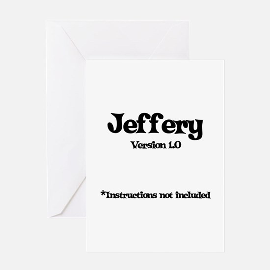 Jeffery - Version 1.0 Greeting Card