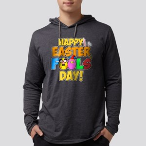 Happy Easter Fools' Day! Mens Hooded Shirt