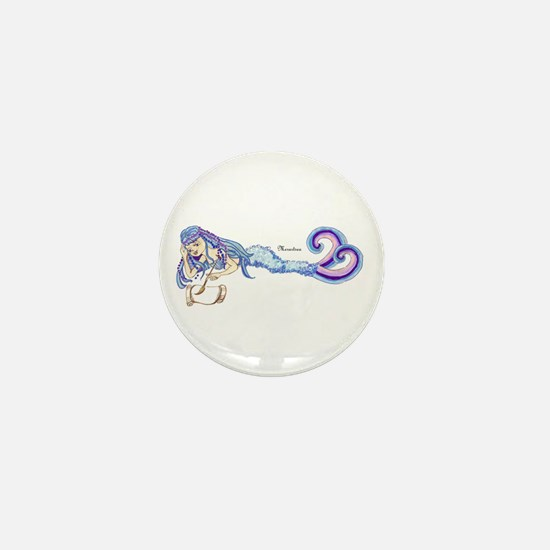 Merartsea painting blue & purple Mini Button