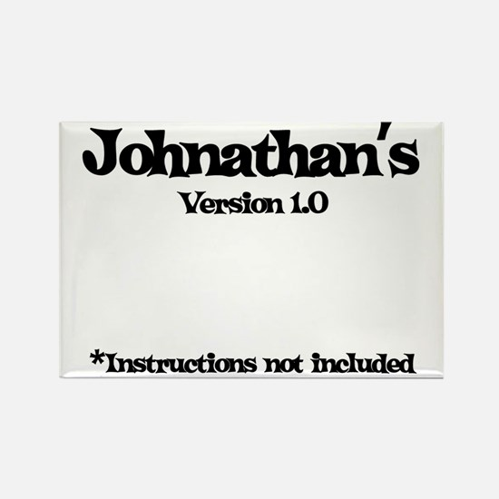 Johnathan - Version 1.0 Rectangle Magnet