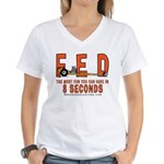 8 SECONDS Women's V-Neck T-Shirt