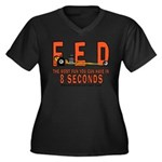 8 SECONDS Women's Plus Size V-Neck Dark T-Shirt