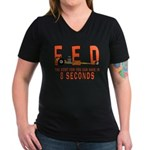 8 SECONDS Women's V-Neck Dark T-Shirt