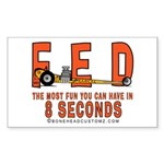 8 SECONDS Rectangle Sticker