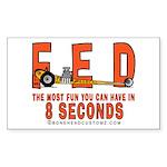 8 SECONDS Rectangle Sticker