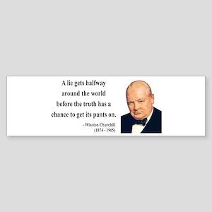 Winston Churchill 11 Bumper Sticker