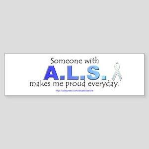 """""""ALS Pride"""" Bumper Sticker"""