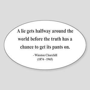 Winston Churchill 11 Oval Sticker