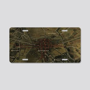 Vintage Gettysburg Pennsylv Aluminum License Plate
