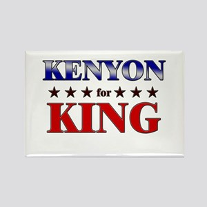 KENYON for king Rectangle Magnet