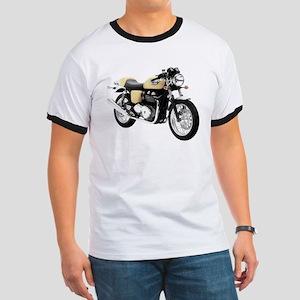 Triumph Thruxton Motorbike Yellow Ringer T