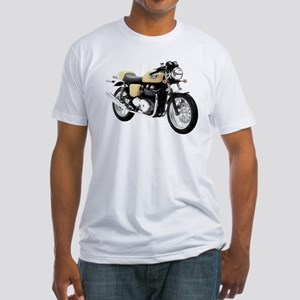 Triumph Thruxton Motorbike Yellow Fitted T-Shirt