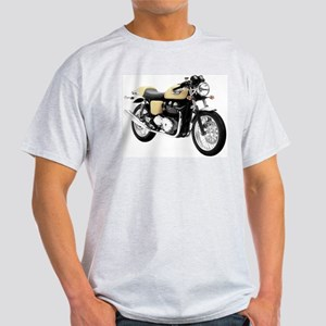 Triumph Thruxton Motorbike Yellow Light T-Shirt