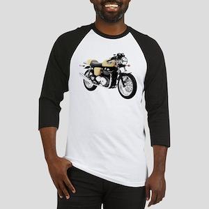 Triumph Thruxton Motorbike Yellow Baseball Jersey