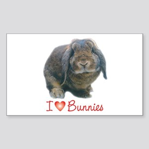 bunny lover Rectangle Sticker