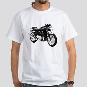 Triumph Thruxton Motorbike Black White T-Shirt