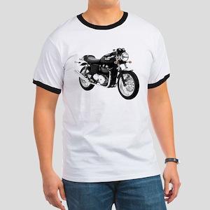 Triumph Thruxton Motorbike Black Ringer T