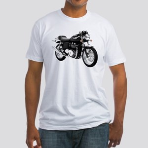 Triumph Thruxton Motorbike Black Fitted T-Shirt