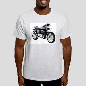 Triumph Thruxton Motorbike Blue Light T-Shirt