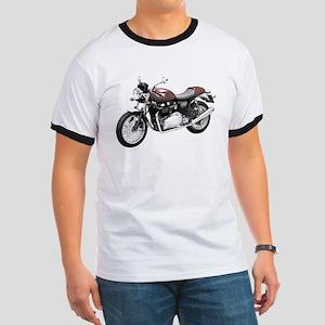 Triumph Thruxton Motorbike Red Ringer T