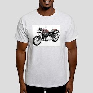 Triumph Thruxton Motorbike Red Light T-Shirt