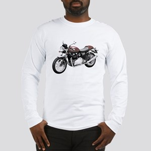 Triumph Thruxton Motorbike Red Long Sleeve T-Shirt