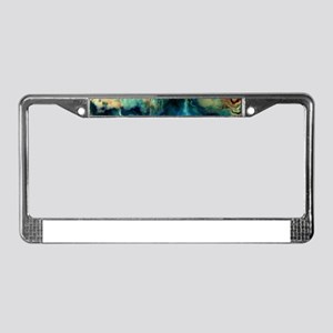 Abstract Blue Oil Painting Fra License Plate Frame
