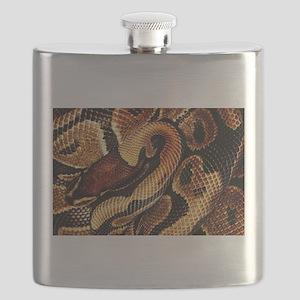 Ball Python coils Flask