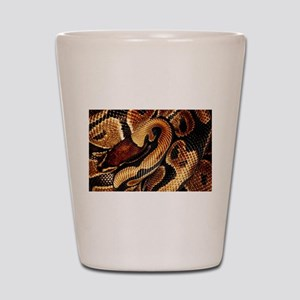 Ball Python coils Shot Glass