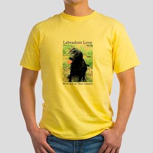 Labradors Love Yellow T-Shirt