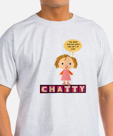 Chatty White T-Shirt