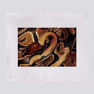 Ball Python coils Throw Blanket