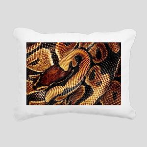Ball Python coils Rectangular Canvas Pillow
