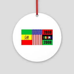 Obama Support 2008 Ornament (Round)