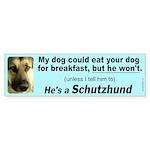 Male Schutzhund Bumper Sticker