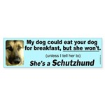 Female Schutzhund Bumper Sticker