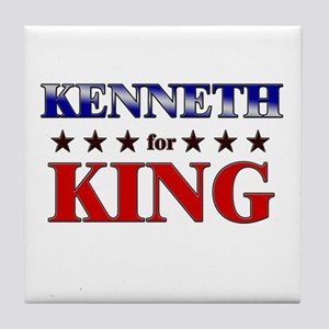 KENNETH for king Tile Coaster