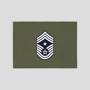 USAF: CCM E-9 (Green) 5'x7'Area Rug