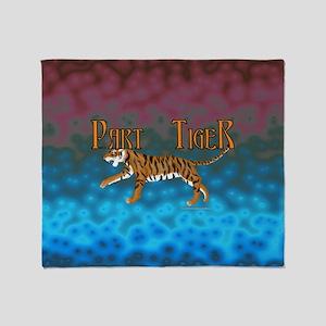 Part Tiger Throw Blanket