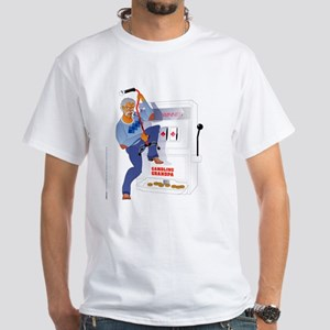 Gambling Grandpa White T-Shirt