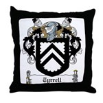 Tyrrell Family Crest Throw Pillow