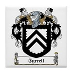 Tyrrell Family Crest Tile Coaster