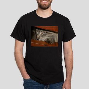 Fence Cat Dark T-Shirt