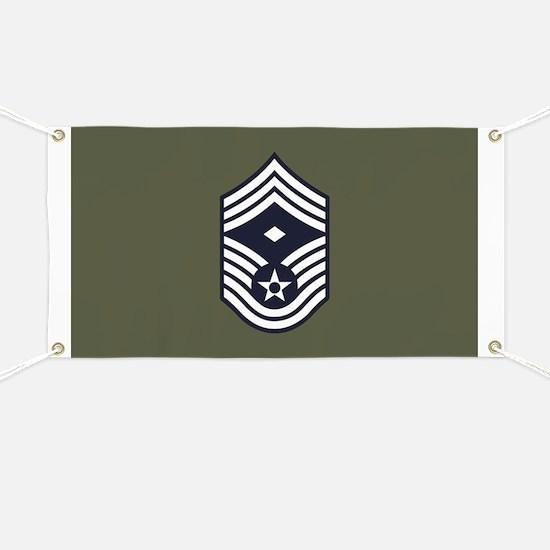 USAF: CMSgt E-9 (Green) Banner