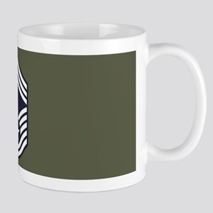 USAF: CMSgt E-9 (Green) 11 oz Ceramic Mug