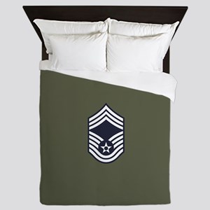USAF: CMSgt E-9 (Green) Queen Duvet