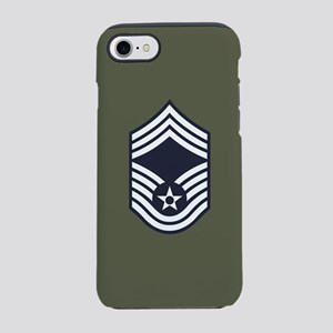 USAF: CMSgt E-9 (Green) iPhone 8/7 Tough Case