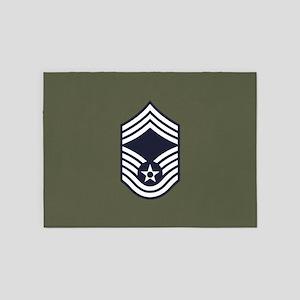 USAF: CMSgt E-9 (Green) 5'x7'Area Rug