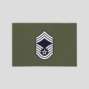 USAF: CMSgt E-9 (Green) 4' x 6' Rug