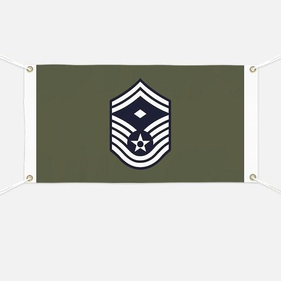 USAF: SMSgt E-8 (Green) Banner